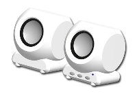 Canyon  speaker - (Stereo, 6W, 100Hz - 20kHz, USB) , Square, Whi