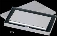 aluminium pocket Business Card holder in alu. Box