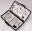 Aluminium Manicure & Make-Up Brush Kit