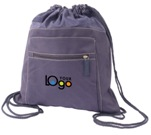 Indestruktible Drawstring Backpack - Navy