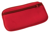 Neoprene Travel Document Holder - Red