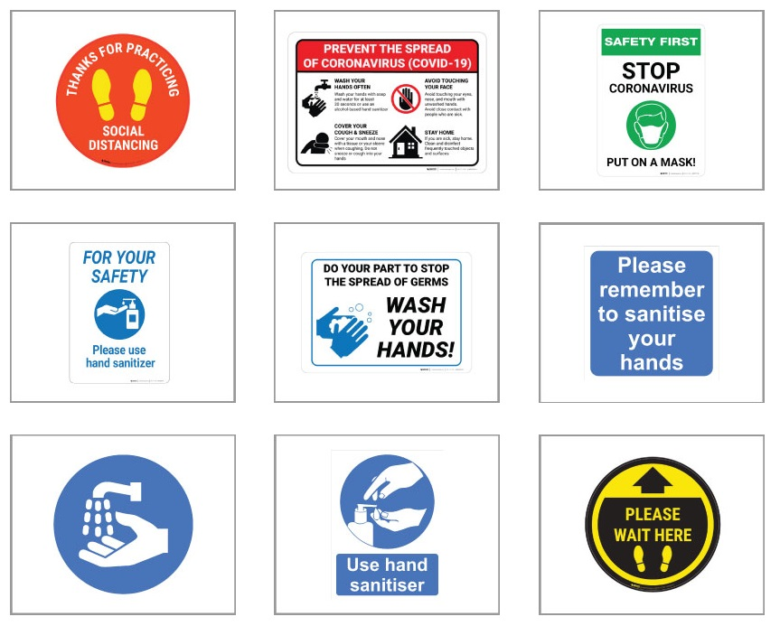 ABS Plastic Safety Sign - Digitally Printed (20 X 25cms) - Min 1
