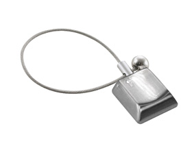 "NICKEL SATIN ""COMPUTER KEY"" KEYRING"