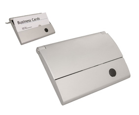 MATT SLV ROLL TOP BUSINESS CARD HOLDER