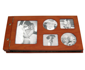 Cherry wood photo album - Holds 240 photos (37*22*3cm)