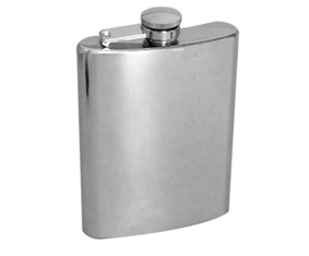 MSS HIP FLASK W/CAPTION LID (237ML)(8oz)