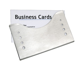 "MATT SLV BUSINESS CARD HOLDER ""SLIDE"""
