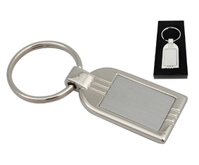 Two-Tone slv keyring  rectangle