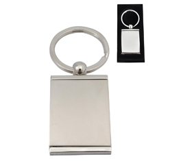 TWO-TONE SLV KEYRING WITH PHOT FRAME + MIRROR