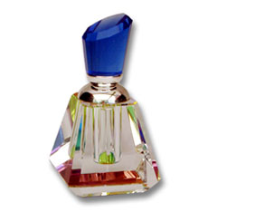 Crystal perfume bottle colour base