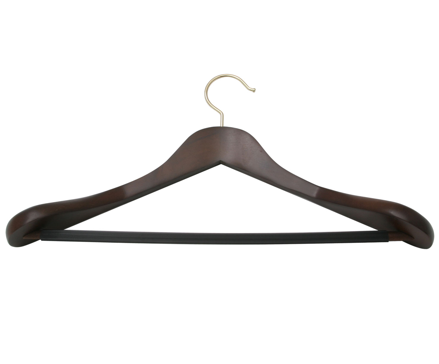 WALNUT WOOD DELUXE SUIT HANGER