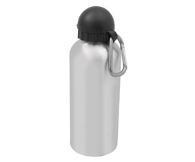 ALUMINIUM WATER BOTTLE W ANTI-OXIDANT LINIG + HOOK (600ML)
