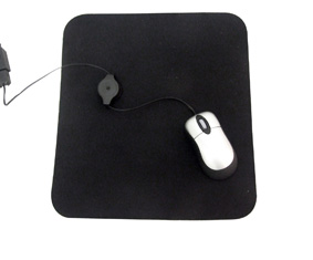 Mouse Pad Black In Polybag