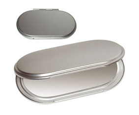 Al Oval Double Sided Compact Mirror