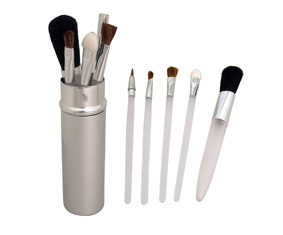 5Pc Cosmetic Brush Set In Aluminium