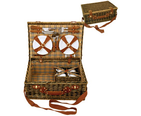 Willow Picnic Basket For 4(49X35X21.