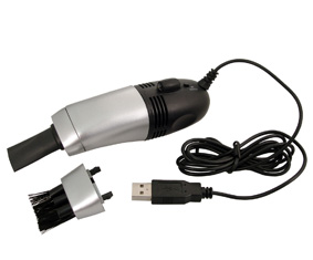 Silver And Black Usb Vacuum Cleaner