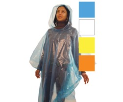 Unisex Disposable Poncho Blue