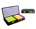 Black Pu 4 Colour Post-It Holder Wit