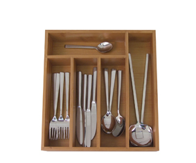 Bamboo 5 Division Cutlery Tray (34.5