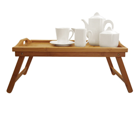 Bamboo Breakfast Tray With Fold Up L