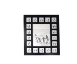 BLACK WOOD MULTI PHOTO FRAME (19 PHOTO'S)