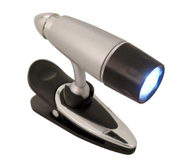 Silver Led Book Light With  Clip