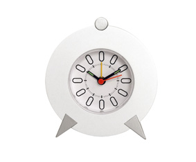 White Table Clock With Luminous Hand
