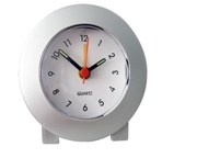 Silver Table Alarm Clock With Luminous Hands