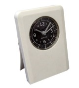 White Table Alarm Clock With Memo Clip