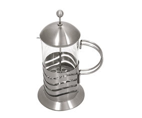 Matt Stainless Steel And Glass Coff