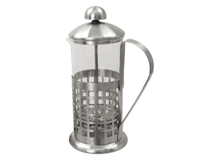 Matt Stainless Steel And Glass Coffe