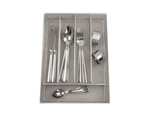 Silver Small 5 Division Mesh Drawer