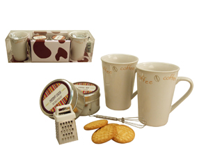 6 Pcs Coffee Mug Set W/2 Mugs,Coffee