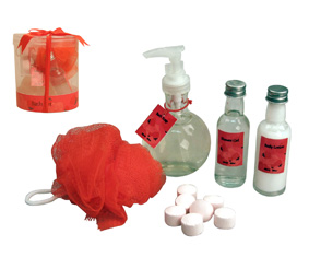 5 Pcs Bath Set W/Soap,Lotion,Bath Ge
