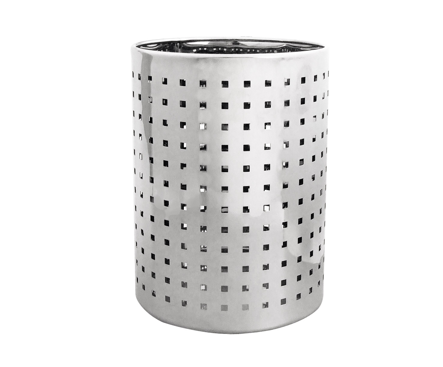 Stainless Steel 8L Round Waste Bin W