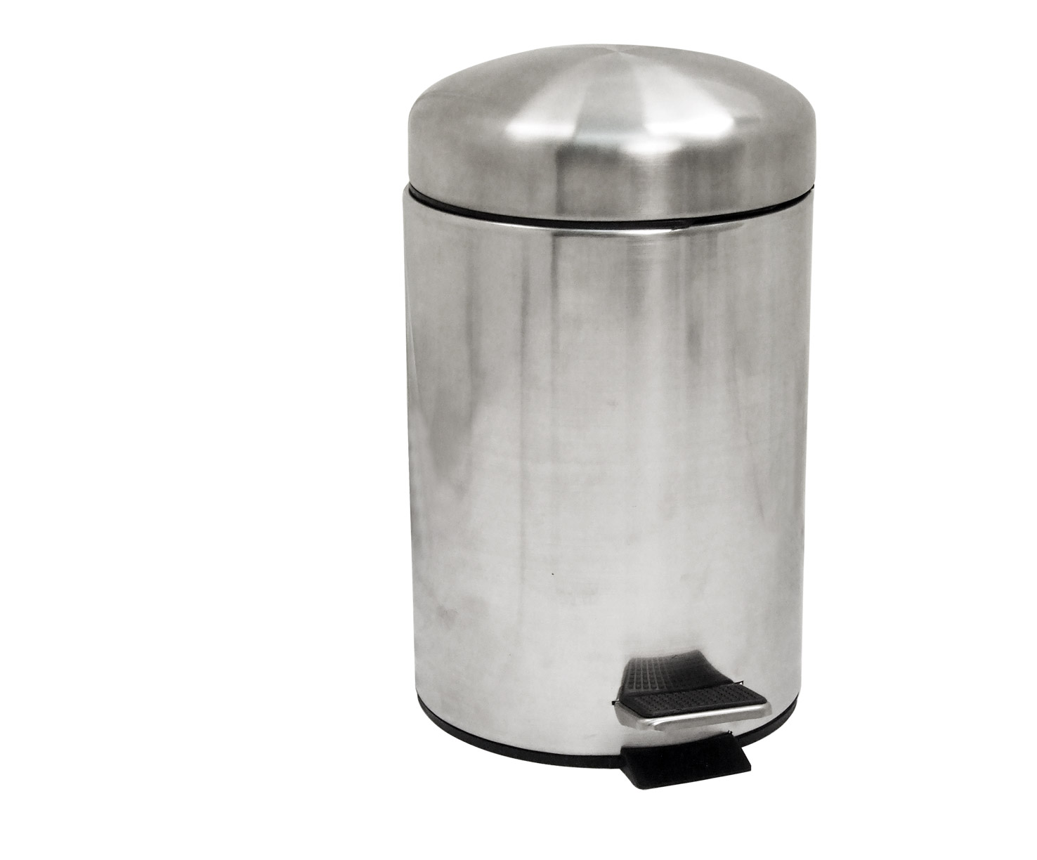 Stainless Steel 3L Round Pedal Bin W