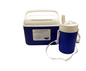 2-In-1 Blue & White Insulated 4.5L Coo