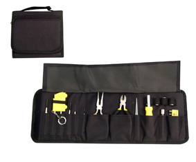 26Pc Cubby Hole Multi Tool Set In Back Nylon Fold Up Pouch (