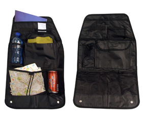 Black Car Organiser W/6 Pockets + Nylon Straps(57X37.5Cm)