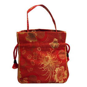 Red Oriental Drawstring Pouch (21X18.3Cm)
