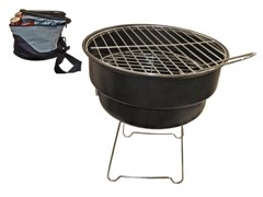 Grey & Black Mini Braai In Insulated Cooler W/Strap (Ø29Cm)