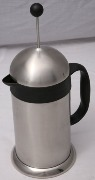 Stainless steel executive coffee plunger w/3 control pos