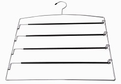 Space saver 4 tier trouser hanger