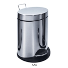 fStainless Steel 3l  Waste Bin with Foot Pedal -Oval Sha