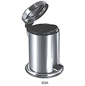Matt Stainless Steel 3 litre Waste Bin with Foot Pedal -
