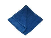 Blue terry beach towel