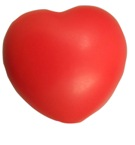 Red heart shape stressball