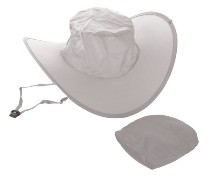 White Folding Nylon Hat In Pouch