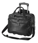 Genuine Leather Trolley Laptop Bag